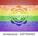 faithfully emblem on mosaic... | Shutterstock .eps vector #1357534442
