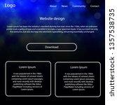 light blue vector web ui kit...