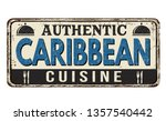 authentic caribbean cuisine... | Shutterstock .eps vector #1357540442
