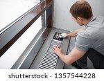 warm floor. heating system.... | Shutterstock . vector #1357544228