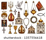 orthodox and catholic or... | Shutterstock .eps vector #1357556618