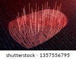 3d illustration fingerprint... | Shutterstock . vector #1357556795