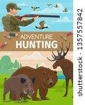 hunter sport adventure and...   Shutterstock .eps vector #1357557842