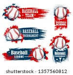 baseball sport banners with... | Shutterstock .eps vector #1357560812
