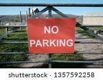 view of a generic 'no parking'... | Shutterstock . vector #1357592258