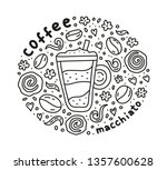 poster with cute doodle... | Shutterstock .eps vector #1357600628