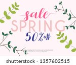 sale banner with flowers ... | Shutterstock .eps vector #1357602515