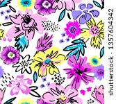 fashion colorful wallpapers.... | Shutterstock .eps vector #1357604342