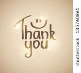 thank you inscription  hand... | Shutterstock .eps vector #135760865