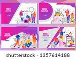 set of web page design... | Shutterstock .eps vector #1357614188