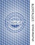 bathing cap blue emblem with... | Shutterstock .eps vector #1357616378
