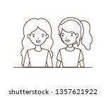 young women avatar character   Shutterstock .eps vector #1357621922