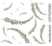 pattern of branch and leaf icon | Shutterstock .eps vector #1357625282