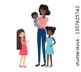 woman with children avatar... | Shutterstock .eps vector #1357625762