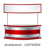reception counter | Shutterstock .eps vector #135763502