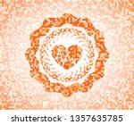 heart with electrocardiogram... | Shutterstock .eps vector #1357635785