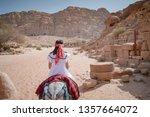 asian woman tourist in white... | Shutterstock . vector #1357664072