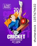 illustration of cricket... | Shutterstock .eps vector #1357674632