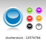 set of color buttons | Shutterstock .eps vector #13576786