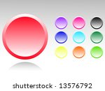 set of color buttons | Shutterstock .eps vector #13576792