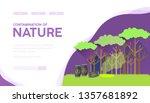 nature contamination vector...