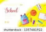 school vector landing page...
