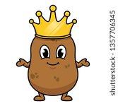 cartoon king potato | Shutterstock .eps vector #1357706345