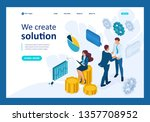 isometric business concept of... | Shutterstock .eps vector #1357708952