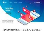 landing page. social media...   Shutterstock .eps vector #1357712468