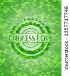 endless love realistic green... | Shutterstock .eps vector #1357717748