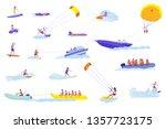 water sports cartoon vector... | Shutterstock .eps vector #1357723175