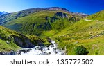 alps mountains and river summer ...   Shutterstock . vector #135772502