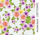 flower print. elegance seamless ... | Shutterstock .eps vector #1357725692