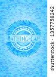 bathing cap sky blue emblem... | Shutterstock .eps vector #1357758242