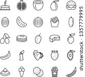 thin line vector icon set  ... | Shutterstock .eps vector #1357779995