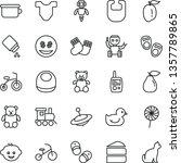 thin line vector icon set  ... | Shutterstock .eps vector #1357789865