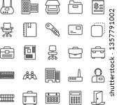 thin line vector icon set  ... | Shutterstock .eps vector #1357791002
