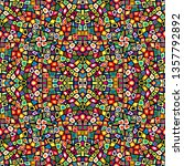 illustration of colorful mosaic ...   Shutterstock . vector #1357792892