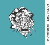 white demon design | Shutterstock .eps vector #1357793705