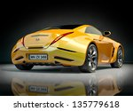 yellow sports car. non branded... | Shutterstock . vector #135779618