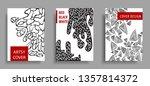 modern artsy cover design...   Shutterstock .eps vector #1357814372