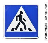 pedestrian crossing  old road... | Shutterstock . vector #1357818935