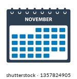november calendar icon. flat...