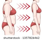 before and after losing weight. ... | Shutterstock .eps vector #1357826462