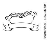 hot dog fast food | Shutterstock .eps vector #1357832585