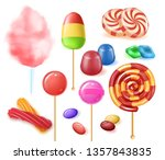 types colorful fruit candies on ... | Shutterstock .eps vector #1357843835
