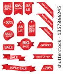 sale ribbons and stickers add | Shutterstock .eps vector #1357866245