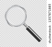 magnifying glass on transparent ... | Shutterstock .eps vector #1357871885