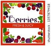 organic food fresh and juicy... | Shutterstock .eps vector #1357879418
