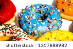 sweet tasty donuts with... | Shutterstock . vector #1357888982